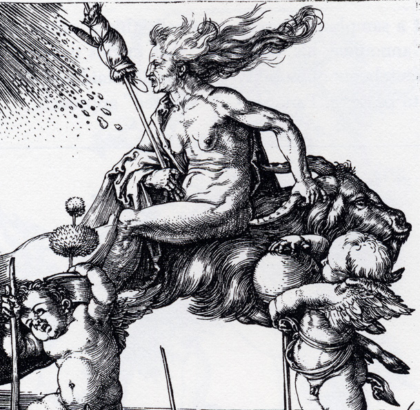 Witch Riding Backwards on a Goat, Albrecht Durer