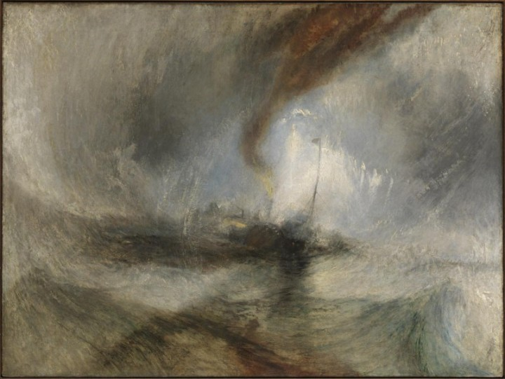 Steam-Boat off a Harbour's Mouth exhibited 1842 by Joseph Mallord William Turner 1775-1851